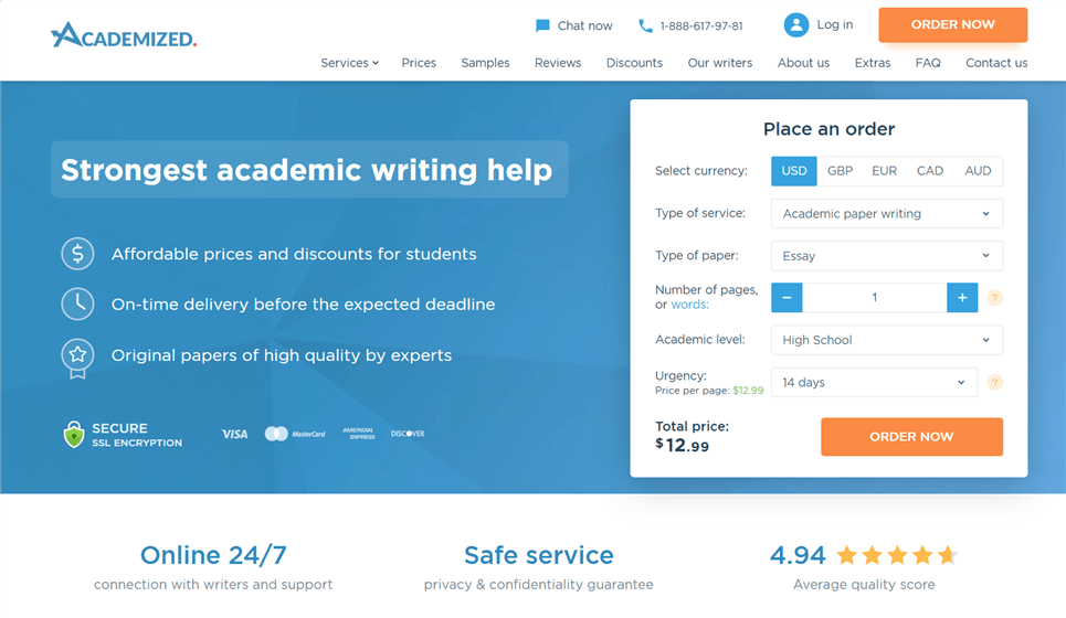 Academized.com review – Rated 9.3/10