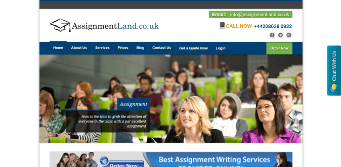 Assignmentland.co.uk review – Rated 1.5/10