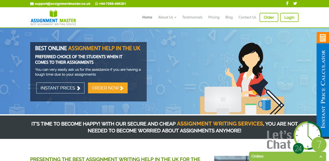 Assignmentmaster.co.uk review – Rated 3.2/10