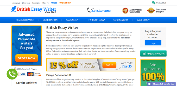 Britishessaywriter.org.uk review – Rated 4.5/10