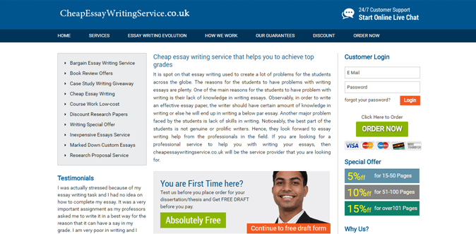 Cheapessaywritingservice.co.uk review – Rated 4.1/10