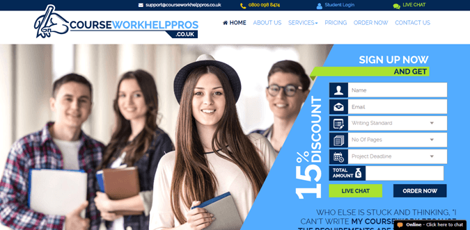 Courseworkhelppros.co.uk review – Rated 3.5/10