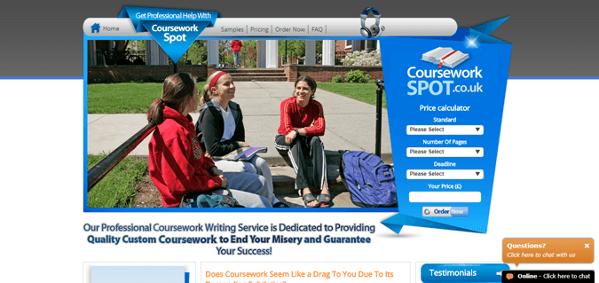 Courseworkspot.co.uk review – Rated 1.9/10