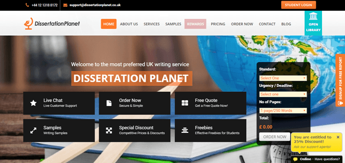 Dissertationplanet.co.uk review – Rated 1.6/10