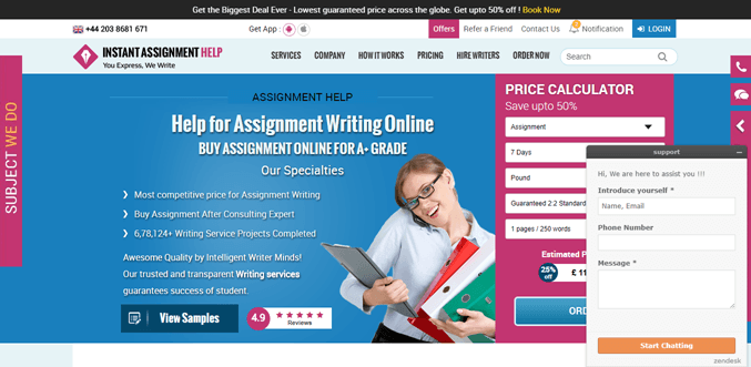 Instantassignmenthelp.com review – Rated 3.1/10