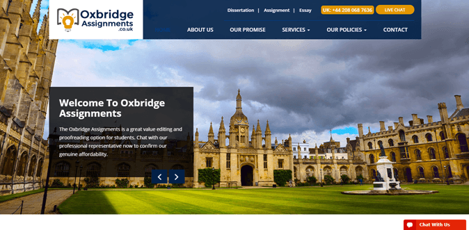 Oxbridgeassignments.co.uk review – Rated 3.1/10