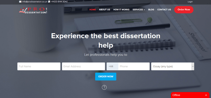 Prodissertation.co.uk review – Rated 1.6/10