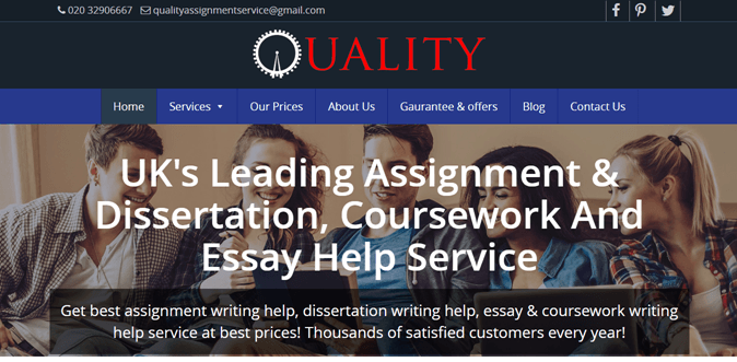 Qualityassignment.co.uk review – Rated 3.6/10