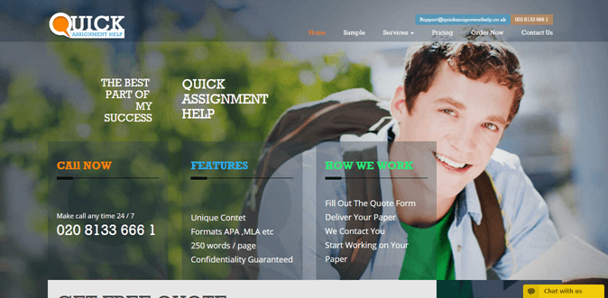 Quickassignmenthelp.co.uk review – Rated 3.7/10