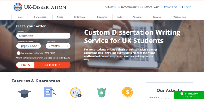 UK-Dissertation.com review – Rated 3.8/10
