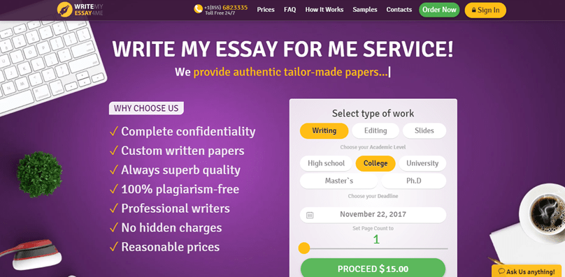 Writemyessay4me.org review – Rated 5.4/10